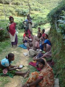 women in tribal village in Sirmangal